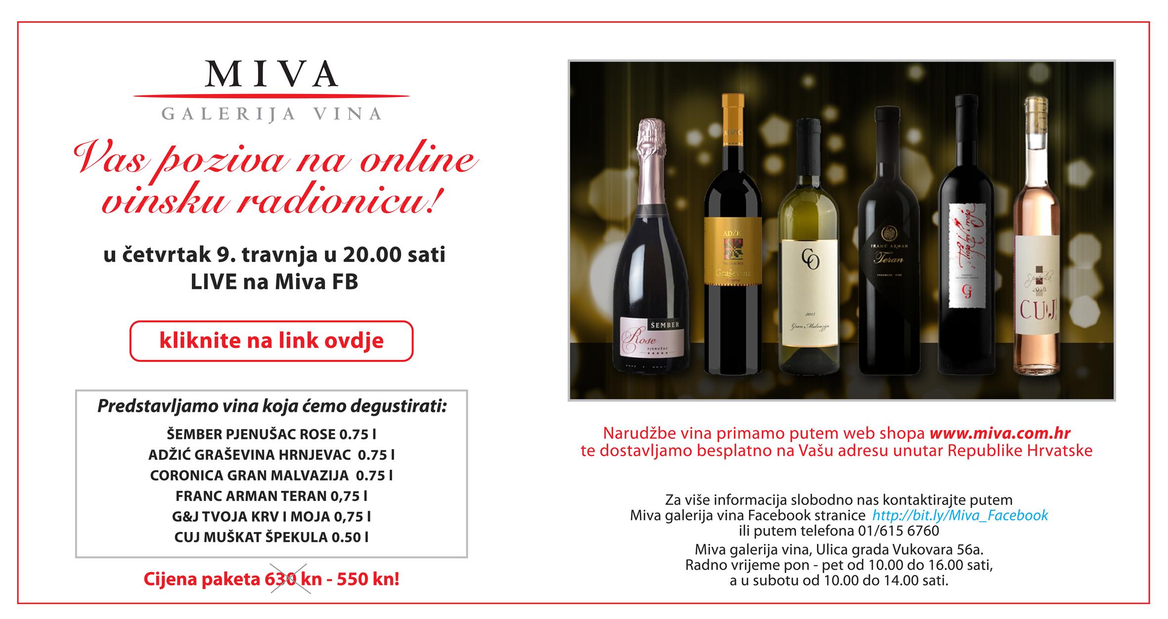 MIVA online wine workshop / tasting - Episode 1