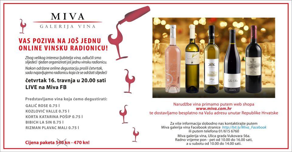 MIVA online wine workshop / tasting - Episode 2