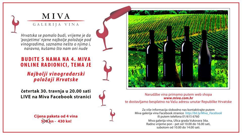 MIVA online wine workshop / tasting - Episode 4