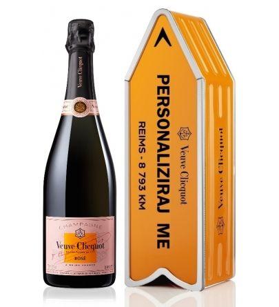Veuve Clicquot Rosé Personalizes signpost