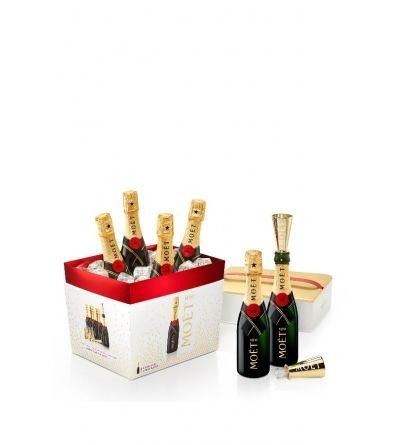 Moët & Chandon Impérial Brut Mini 6 x 0,20l + drinking funnel