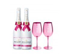 Moët & Chandon Ice Impérial Rosé + 2 Moët roza čaše