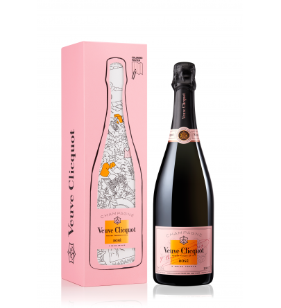 Veuve Clicquot Rose coloring Gift box