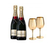 Moët & Chandon Brut Impérial + 2 Moët zlatne čaše